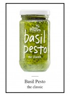 Jar of basil pesto