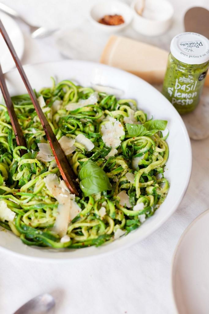 Courgette noodles