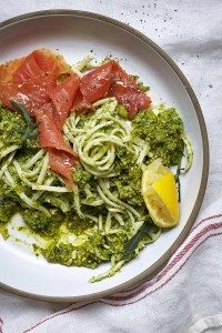 Pesto Princess © Rocket Pesto, Broccoli and Smoked Trout Pasta