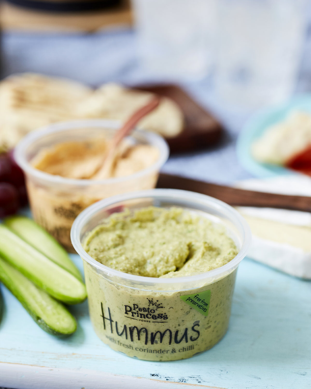 Pesto Princess © Hummus with Coriander and Chilli