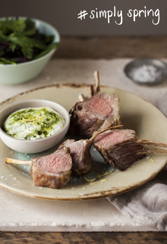 Roast Rack of lamb with basil and lemon pesto picture