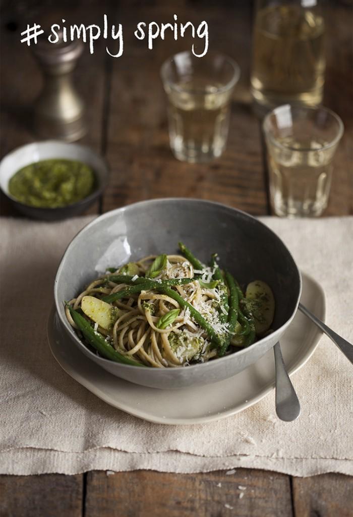 Potato and Green Pesto Pasta