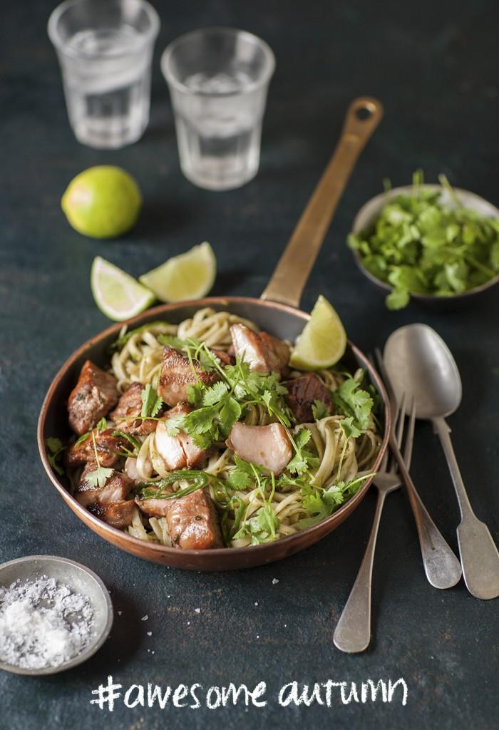 Seared Salmon with thai pesto
