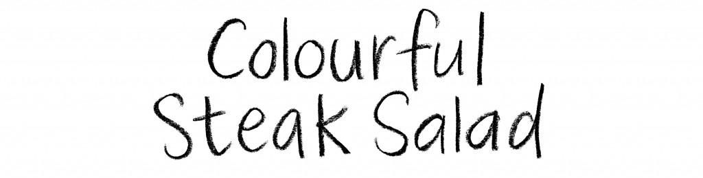 colourful steak salad