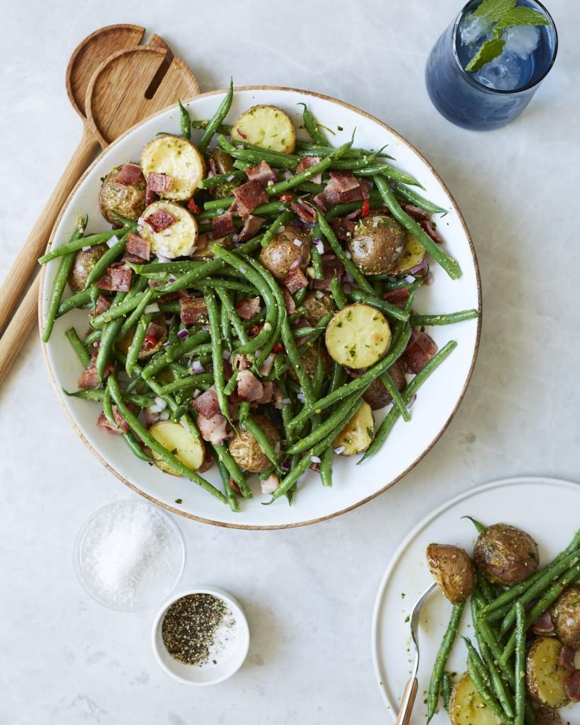 Pesto Princess © Roast Potato, Green Bean & Bacon Salad