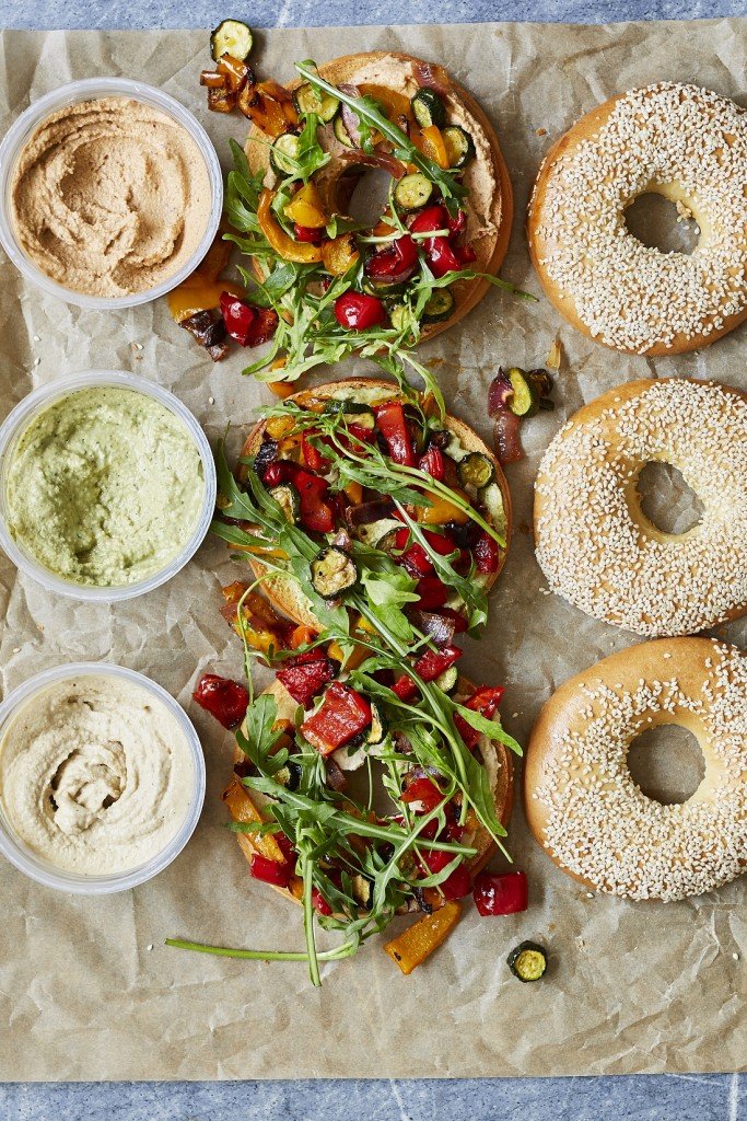Pesto Princess © Roasted Veg Bagels